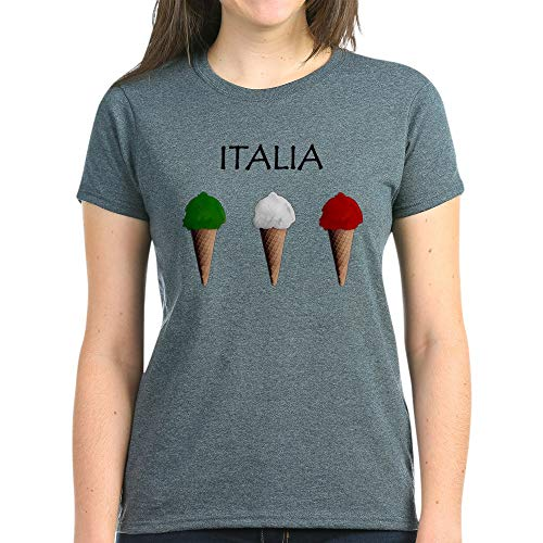 CafePress Gelati Italiani Women's Dark T Shirt Womens Cotton T-Shirt Charcoal Heather