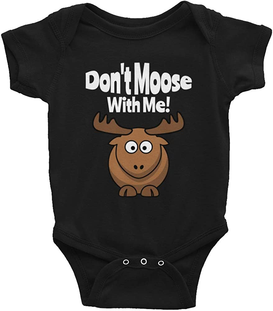 Dont Moose with Me-Dont Moose with Me Baby-Baby Rompers-Animal Romper Funny Baby Clothes