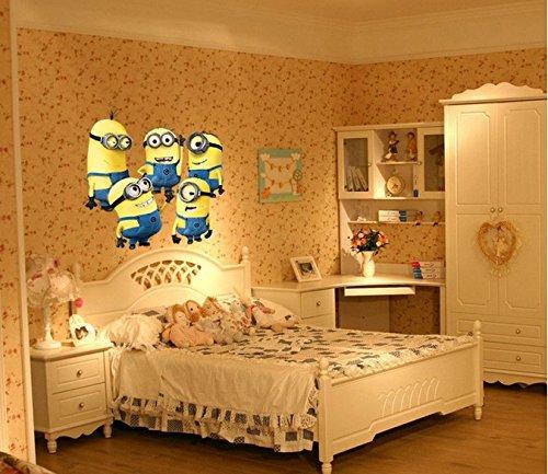 Minions Set adesivo colorato Asilo nido decalcomania bambini Camera Arte decalcomania Ragazze Camera Parete Adesivi decalcomanie arredamento