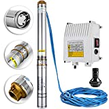 Happybuy Deep Well Submersible Pump 1.5HP 220V Submersible Well Pump 335ft 24GPM Stainless Steel Deep Well Pump for Industrial and Home Use