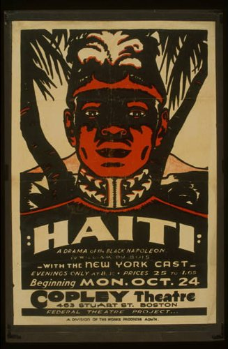 Vintage Reprints Photo Haiti A Drama of The Black Napoleon by William Du Bois : with The New York cast. 1938