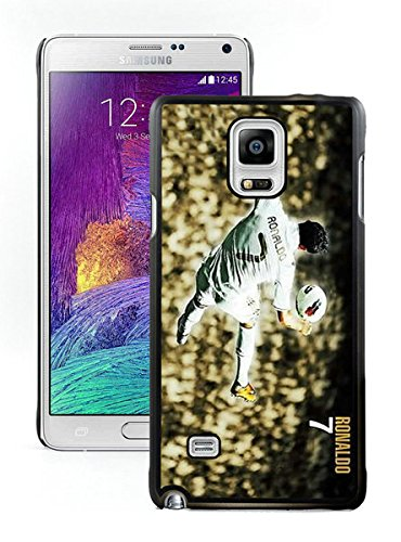 Price comparison product image It's highly resistant to oil,  dirt,  and scratches with a look of a hard case but shock absorption and Protection of a comfortable case--Cristiano Ronaldo Real Madrid 02 Black Samsung Galaxy Note 4 N910A N910T N910P N910V N910R4 Case