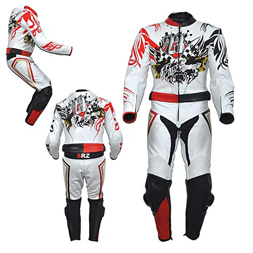 Motorcycle Leather Suit/Motorbike Leather Suit (Large)