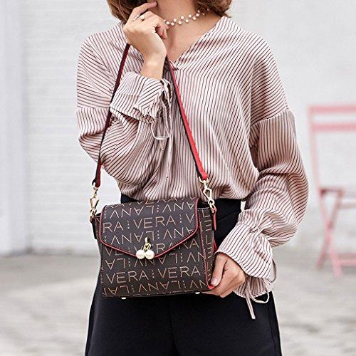 féminin Bag PU de Sac bandoulière sac coréenne avec à Beige femelle PVC version Sac Messenger 1BqOwfxd1