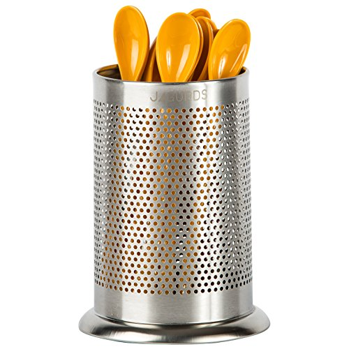 (Jagurds Stainless Steel Utensil Holder - Rust-Proof Kitchen Tool Organizer, Perfect Diameter and Height Cutlery Caddy)