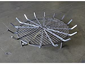 "COOKE Bullseye Large Round Stainless Steel Fire Pit Grate, for Oceanside and Beach Fire Pits, Choose Your Size (36"" Round)"