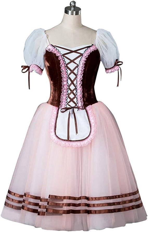 QSEFT Vestido De Ballet Marrón Tutu Vestido De Ballet Campesino ...