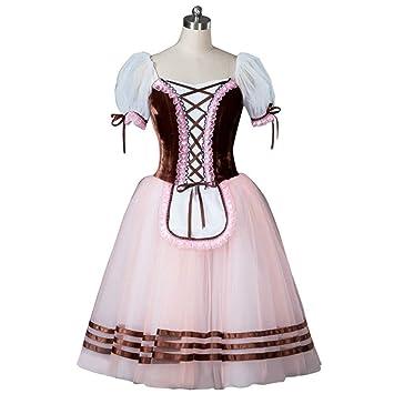 Qseft Vestido De Ballet Marrón Tutu Vestido De Ballet