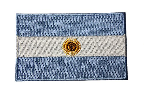 Argentina Country Flag Embroidered Iron on Patch Crest Badge. Size : 1.5