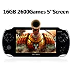 "Handheld Game Console, 16GB 5"" Screen 2600 Classic Games,Portable Video Game Console, Support/GBA/GBC/NES/BIN/SMC"