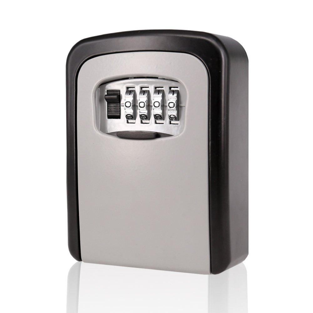 Key Storage Lock Box Wall Mounted Key Holder with 4-Digit Combination Security Storage Organizer (Lock3)