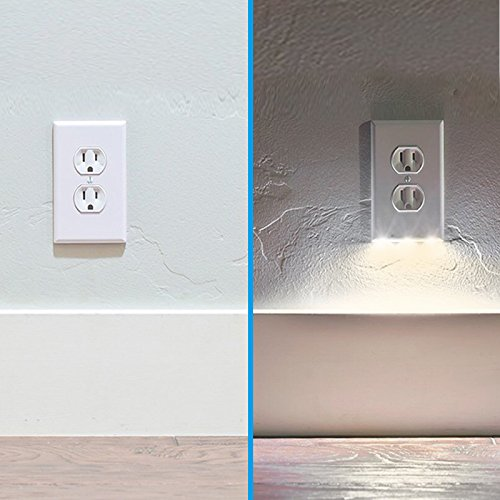 Guidelight best energy saving led night lights wall outlet cover exgreem guidelight best energy saving led night lights wall outlet cover fireproof material no batteries or wires mozeypictures Choice Image