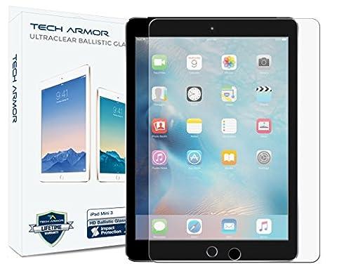 iPad Mini Glass Screen Protector, Tech Armor Premium Ballistic Glass Apple iPad Mini 1 / 2 / 3 Screen Protectors (Screen Protector For Mini Ipad 1)