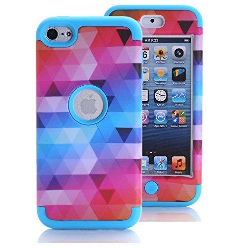 [해외]아이팟 터치 6 케이스, 아이팟 터치 5 케이스, KAMII [다채로운 시리즈] 3in1 충격 방지 전체 바디 보호 하드 PC + 부드러운 실리콘 하이브리드 하드 케이스 커버/iPod Touch 6 Case, iPod Touch 5 Case, KAMII [Colorful Series] 3in1 Shockproof F...