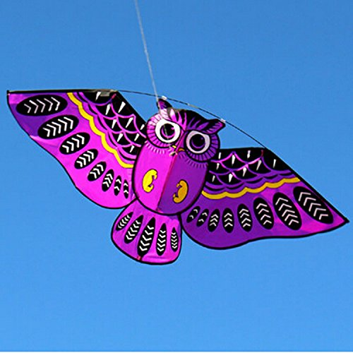 Purple Owl Kite With Handle Line Outdoor Toys Colorful Birds Flagship Store, Weifang Simulation Bat Little (Devil Man Adult Vest)