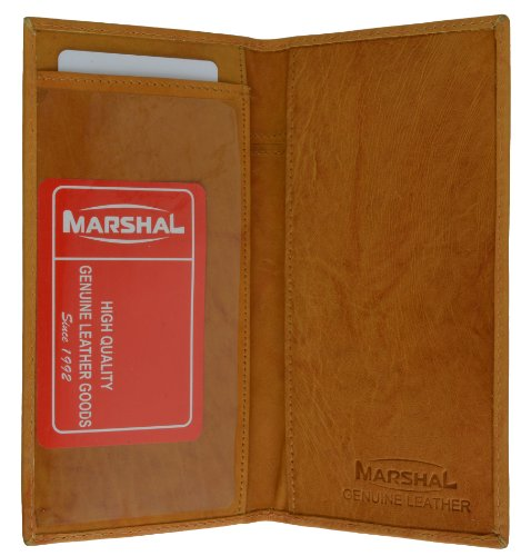 Genuine Leather Checkbook Cover for Men or Women by Marshal