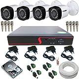 Sistema de Monitoramento 4 Câmeras Híbridas 1 Megapixel Infravermelho DVR 4 Canais Multi HD
