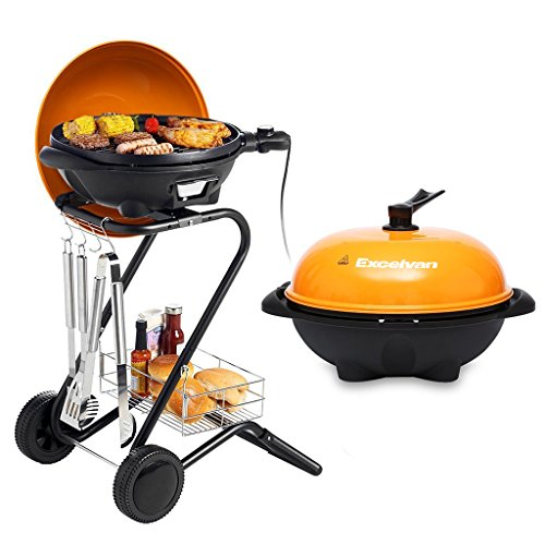 Excelvan Portable 1350W Electric Barbecue Grill with 5 Te...