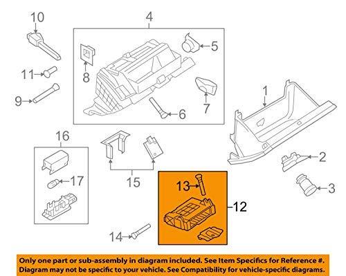 Volkswagen VW OEM 09-16 CC Glove Compartment Box-Storage Box 3C1857285N9B9