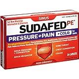 Sudafed PE Pressure Plus Pain Cold Caplet, 24 Count
