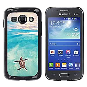 Planetar® ( Tortoise Turtle Baby Watercolor Sea ) Samsung Galaxy Ace 3 III / GT-S7270 / GT-S7275 / GT-S7272 Fundas Cover Cubre Hard Case Cover