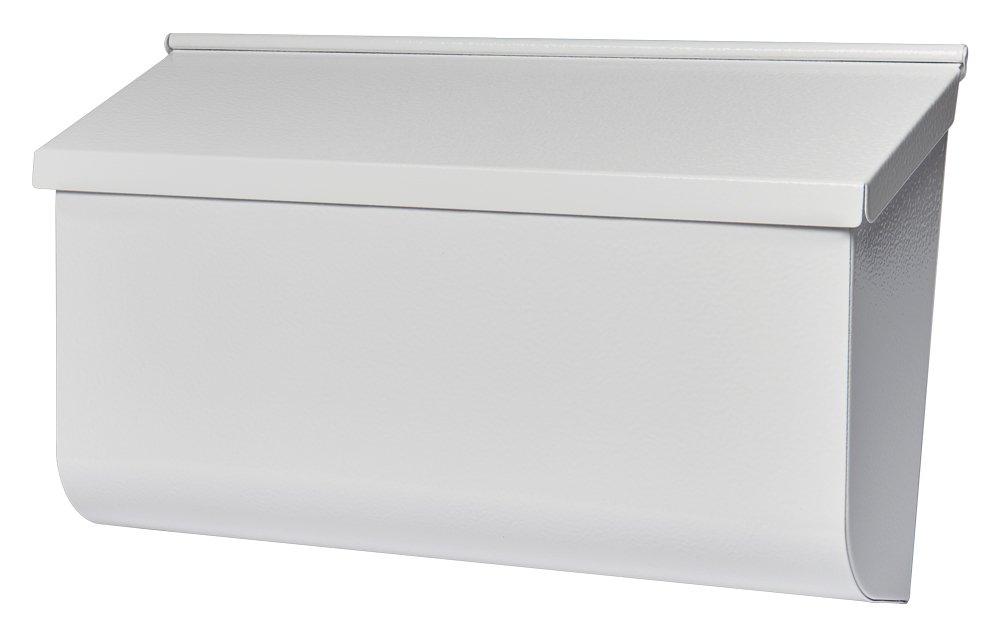 Gibraltar Mailboxes Woodlands Medium Capacity Galvanized Steel White, Wall-Mount Mailbox, L4009WW0