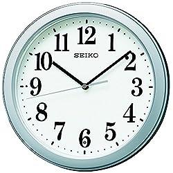 Seiko clock radio hanging clock compact size plastic frame ( silver metallic paint ) KX379S