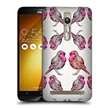 Official Cat Coquillette Pink Birds 2 Hard Back Case for Zenfone 2 / Deluxe