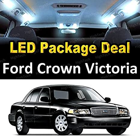 Led Interior Package Deal For  Ford Crown Victoria  Pieces White