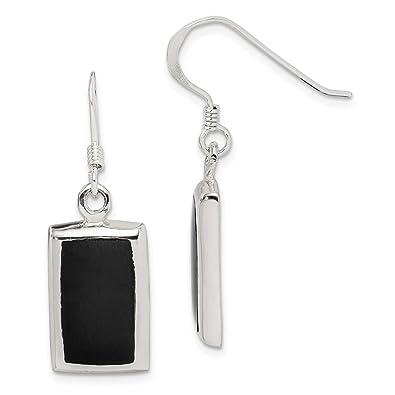 8e9963c59 Amazon.com: 925 Sterling Silver Black Onyx Drop Dangle Chandelier Earrings  Fine Jewelry Gifts For Women For Her: Dangle Earrings: Jewelry