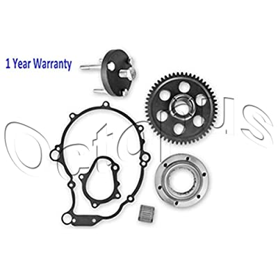 Yamaha Raptor 660 Starter Clutch Gear One Way Bearing n Gasket Kit 2001-2003: Automotive