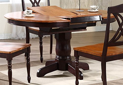 Round Table With Butterfly Leaf - Round Butterfly Leaf Table