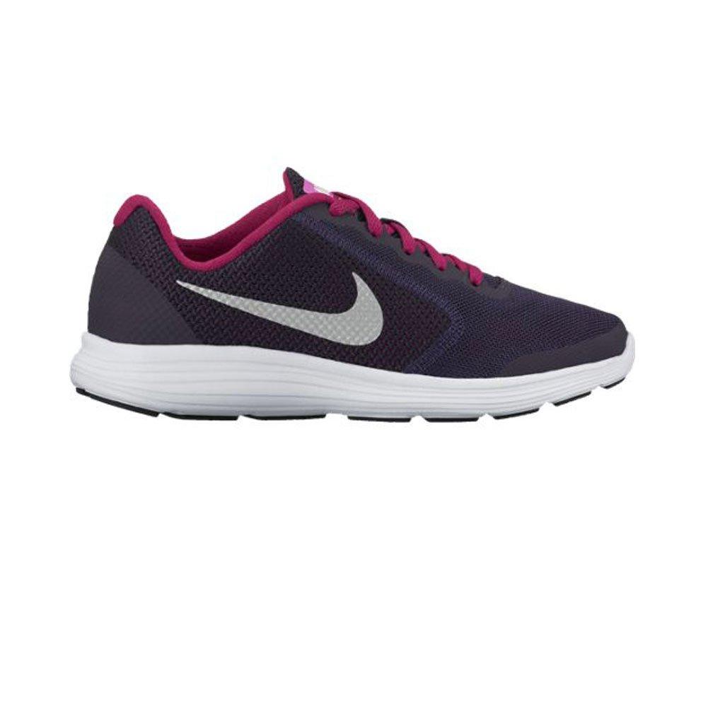 NIKE ' Revolution 3 (GS) Running Shoes B01CYNX8M2 6 M US Big Kid|Purple Dynasty/Metallic Silver