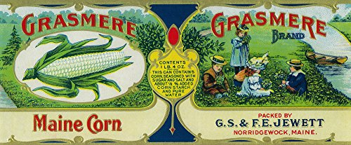 (Grasmere Corn Label (36x54 Giclee Gallery Print, Wall Decor Travel Poster))