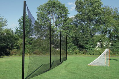 #24-100% Twisted Knotted Nylon Lacrosse Backstop/Divider 10'H-12'H (Select Custom Width) Made in USA & Finished with 5/16