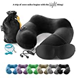 3in1 - TRAVEL NECK PILLOW with an excellent 3D SLEEP MASK, 1 pair of HIGH- ...
