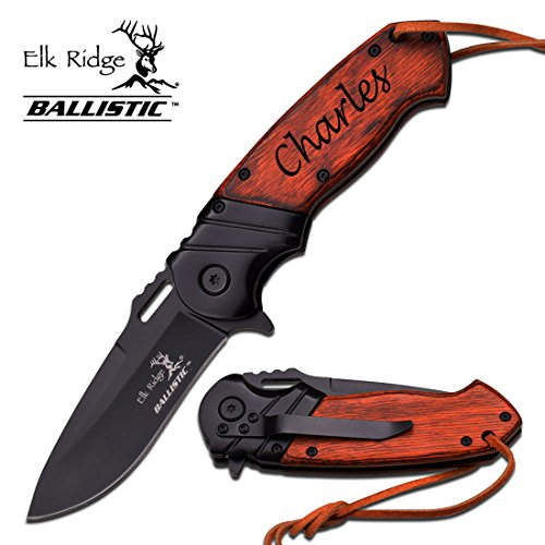 Personalized, Custom Engraved Knife - Elk Ridge ER-A003BW