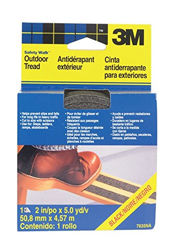 3M Safety-Walk Slip Resistant Tread, Black, 2-Inch by 180-Inch Roll, 7635NA