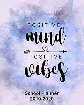 Amazon.com: Positive Mind Positive Vibes School Planner 2019 ...
