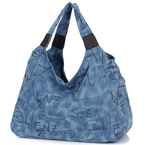 Pairs D - Bolso mochila  para mujer gris gris azul