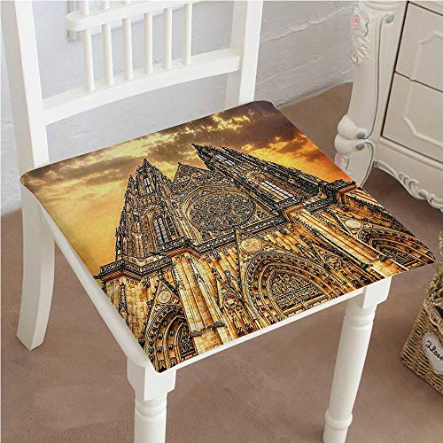 European Classic Recliner - Chair Pads Classic Design Famous Cathedral European Church Catholic Gifts Sunset Tower Medieval Architecture Prague Picture Cotton Canvas Futon 20