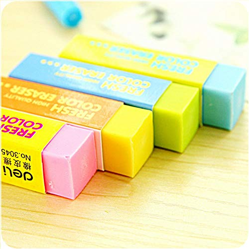 36 pcs/Lot Macaron color eraser PVC 4B colored eraser Stationery Office supplies Material escolar borrachas gomme by PomPomHome (Image #4)