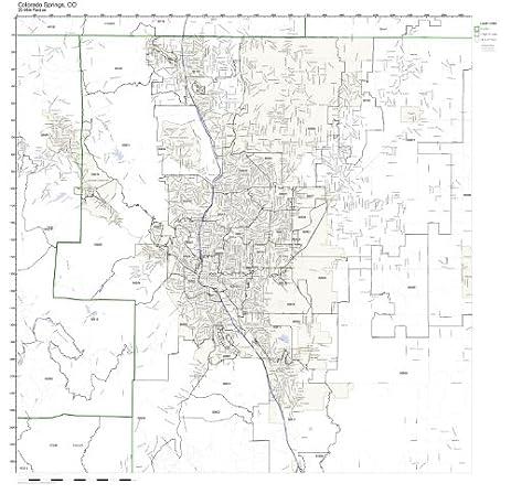 Amazoncom Colorado Springs CO ZIP Code Map Not Laminated Home - Colorado zip code map