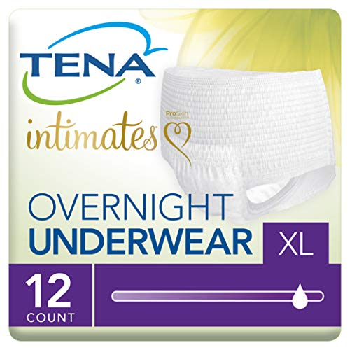 Tena Incontinence Underwear for Women, for Overnight, XLarge, 12 Count
