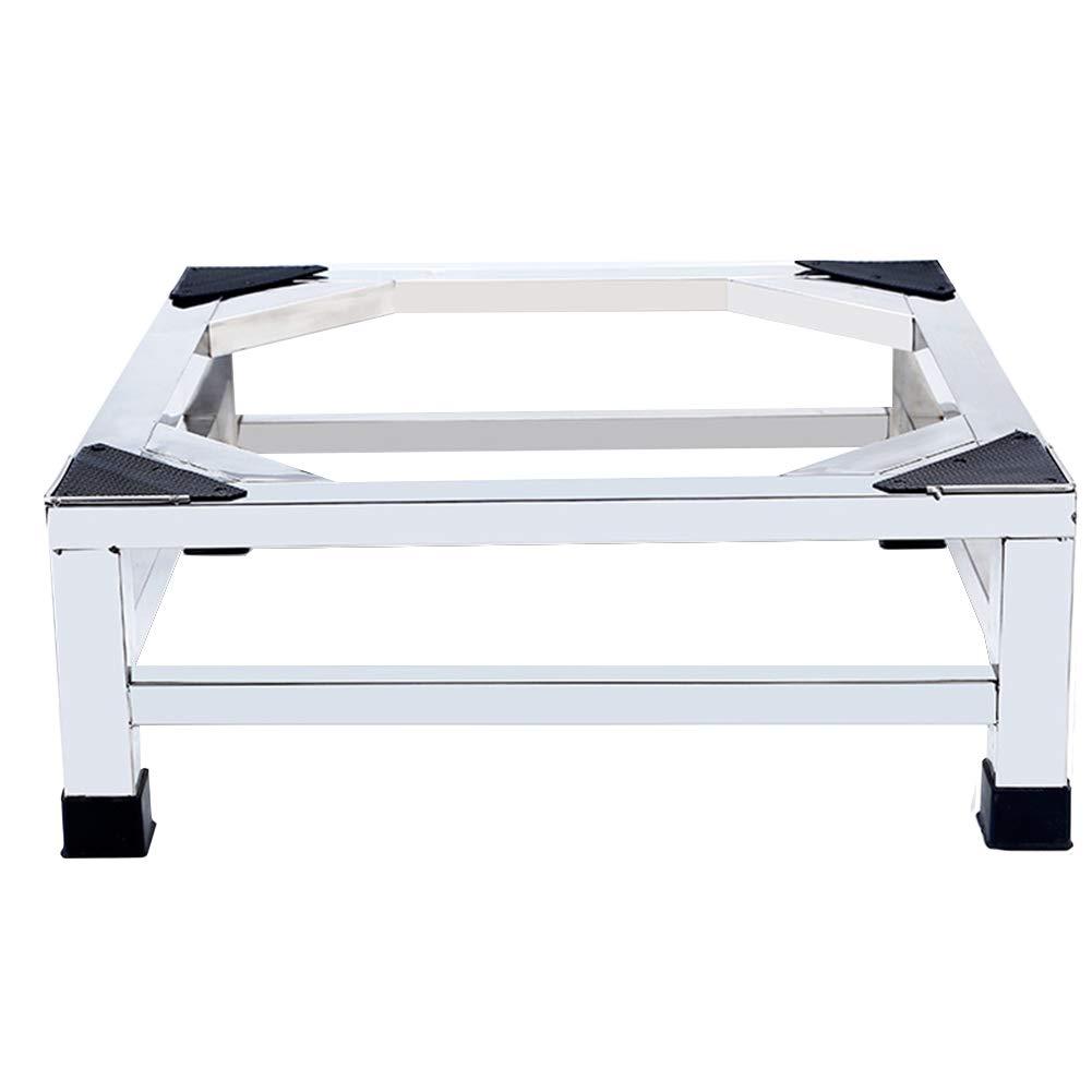 ダブルレイヤーステンレススチール洗濯機ベース、冷蔵庫および空調用多機能ユニバーサルベース、シルバー、サイズオプション (サイズ さいず : 53x53x20cm) 53x53x20cm  B07LCMR277