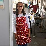 Tween Girl Red Cats Kitchen Art Craft Handmade Gift Apron