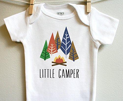 Little Camper Boy Girl Baby Clothes Bodysuit Short Long Sleeve Newborn 3 6 9 12 18 24 Months