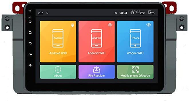 Android 10 Autorradio Navegación del Coche Unidad Principal Estéreo Reproductor Multimedia GPS Radio IPS 2.5D Pantalla táctil porE46(1998-2005) ...