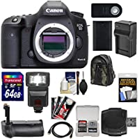 Canon EOS 5D Mark III Digital SLR Camera Body with 64GB Card + Flash + Grip + Battery & Charger + Backpack + Accessory Kit