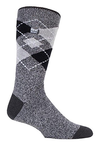 Heat Holders Lite - Mens Winter Warm 1.6 TOG Thin Casual Thermal Crew Socks (Gorton)